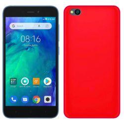 Funda silicona rojo Xiaomi Redmi Go, trasera semitransparente y mate