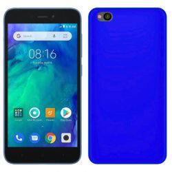 Funda silicona azul Xiaomi Redmi Go, trasera semitransparente y mate