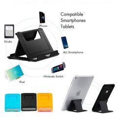 Soporte Plegable con 3 posiciones para tablets y móviles