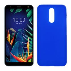 Funda Semitransparente Mate Lisa para LG K40 Silicona Flexible Azul