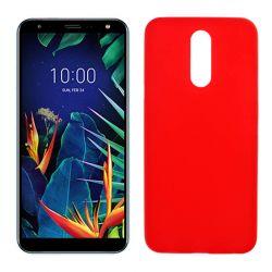 Funda de TPU Mate Lisa para LG K40 Silicona Flexible Rojo