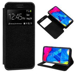 Funda libro con tapa, ventana y soporte - Samsung Galaxy A10 / M10 Negro