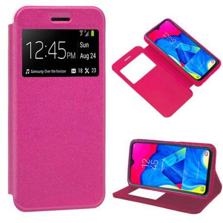Funda libro con tapa, ventana y soporte - Samsung Galaxy M10 Rosa