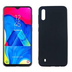 Funda silicona negro Samsung Galaxy M10 trasera mate