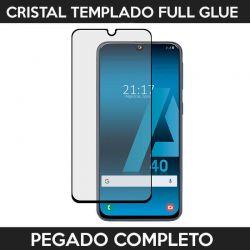 Protector pantalla pegado completo Samsung Galaxy A40 Negro