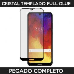 Protector pantalla Adhesivo y Pegado Completo Huawei Y6 2019 Negro