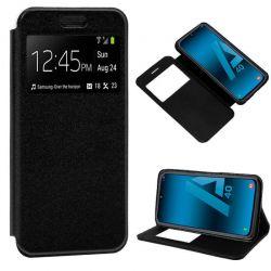Funda de libro con tapa, ventana y soporte - Samsung Galaxy A40 Negro
