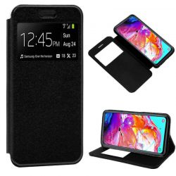 Funda libro con tapa, ventana y soporte - Samsung Galaxy A70 Negro