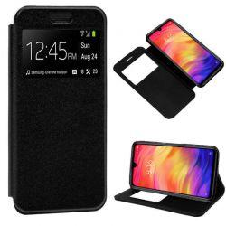 Funda libro Cierre Magnético, Tapa y Ventana Xiaomi Redmi Note 7 Negro