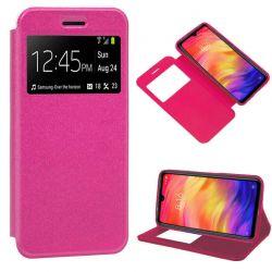 Funda libro Cierre Magnético, Tapa y Ventana Xiaomi Redmi Note 7 Rosa