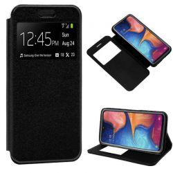 Funda libro con tapa, ventana y soporte Samsung Galaxy A20E Negro