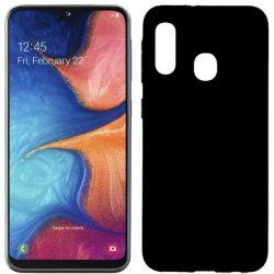 Funda silicona Samsung Galaxy A20E Negro con trasera mate