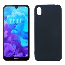Funda silicona negro Huawei Y5 2019 con trasera mate