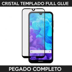 Protector pantalla con adhesivo y pegado completo - Huawei Y5 2019 Negro