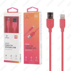 Cable Lightning Rojo 2.4A de Carga Rápida y 1 Metro para iPhone y iPad