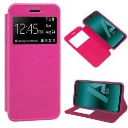 Funda libro con tapa, ventana y soporte - Samsung Galaxy A50 / A30S Rosa