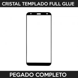 Protector pantalla pegado completo LG K40 Negro