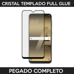 Protector pantalla pegado completo Samsung Galaxy A20E Negro
