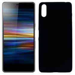 Funda silicona negro Sony Xperia L3, trasera mate