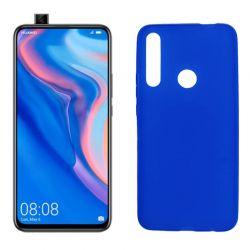 Funda silicona azul Huawei P Smart Z, trasera mate semitransparente
