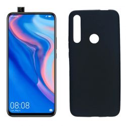 Funda silicona negro Huawei P Smart Z, trasera mate