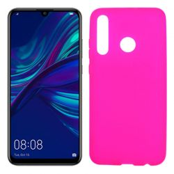 Funda silicona rosa Huawei P Smart Plus 2019, trasera mate semitransparente