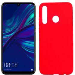 Funda silicona rojo Huawei P Smart Plus 2019, trasera mate semitransparente
