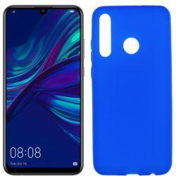 Funda silicona azul Huawei P Smart Plus 2019, trasera mate semitransparente