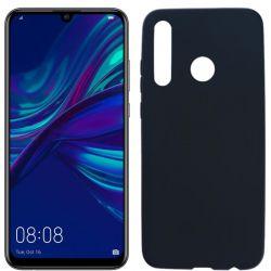Funda silicona negro Huawei P Smart Plus 2019, trasera mate