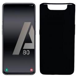 Funda silicona negro Samsung Galaxy A80 trasera mate