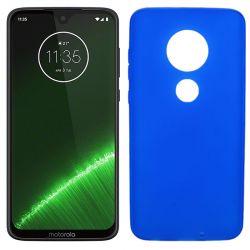 Funda silicona azul Motorola Moto G7 / G7 Plus mate semitransparente