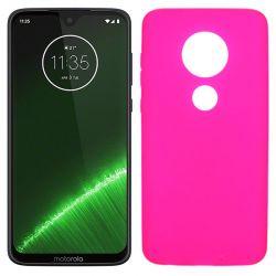 Funda silicona rosa Motorola Moto G7 / G7 Plus mate semitransparente