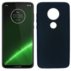 Funda silicona negro Motorola Moto G7 / G7 Plus trasera mate