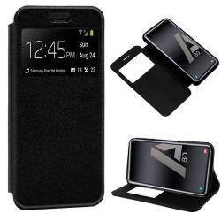Funda libro con tapa, ventana y soporte - Samsung Galaxy A80 Negro