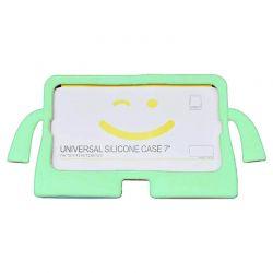 """Funda de silicona Universal Tablet 7"""" Verde para niños con soporte"""