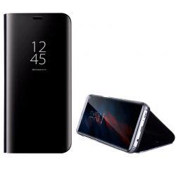 Funda de Espejo Negro Clear View con soporte - Samsung Galaxy S9 Plus