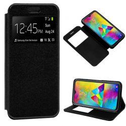Funda libro con tapa, ventana y soporte Samsung Galaxy M20 Negro