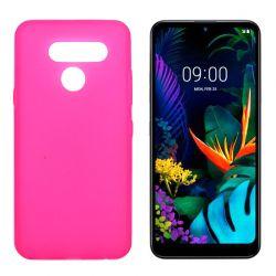 Funda rosa LG K50 / Q60 de silicona