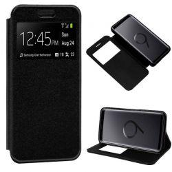 Funda libro con tapa, ventana y soporte - Samsung Galaxy S9 Plus Negro