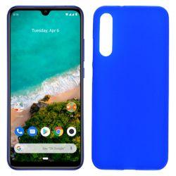 Funda silicona azul Xiaomi Mi A3, trasera semitransparente y mate