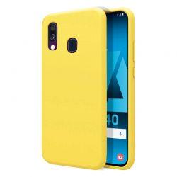 Funda de Silicona Líquida Suave para Samsung Galaxy A40 Amarillo mate