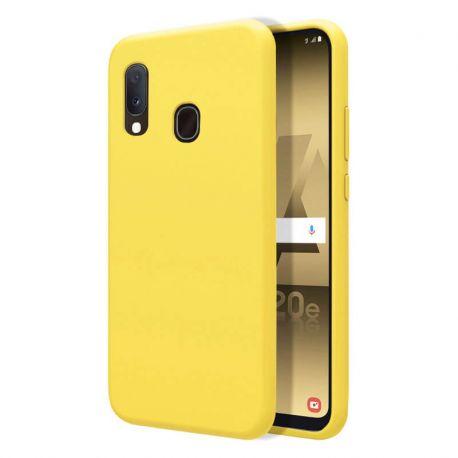 Funda de Silicona Líquida Suave para Samsung Galaxy A20E Amarillo mate