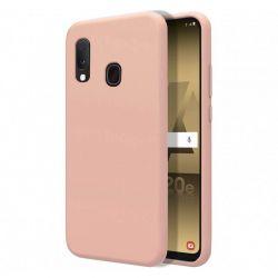 Funda de Silicona Líquida Suave para Samsung Galaxy A20E Rosa palo