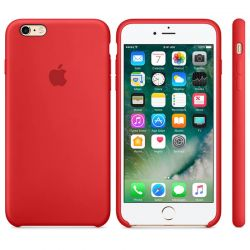 Funda Silicona suave con logo para Apple iPhone 6 Plus / 6S Plus Rojo