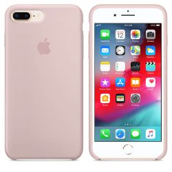 Funda Silicona micro fibra para Apple iPhone 7 Plus / 8 Plus Rosa Arena