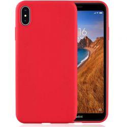 Funda de Silicona tacto suave para Xiaomi Redmi 7A Rojo