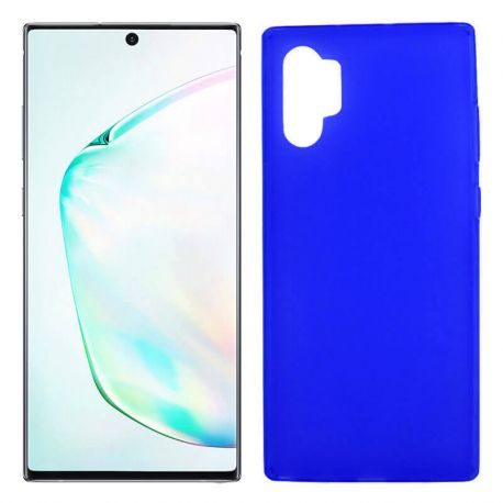 Funda Silicona Samsung Galaxy Note 10 plus semitransparente color azul