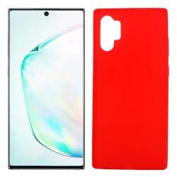 Funda Silicona Samsung Galaxy Note 10 plus semitransparente color rojo