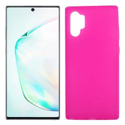 Funda Silicona Samsung Galaxy Note 10 plus semitransparente color rosa