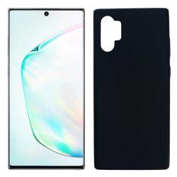 Funda Silicona Samsung Galaxy Note 10 plus trasera mate color negro